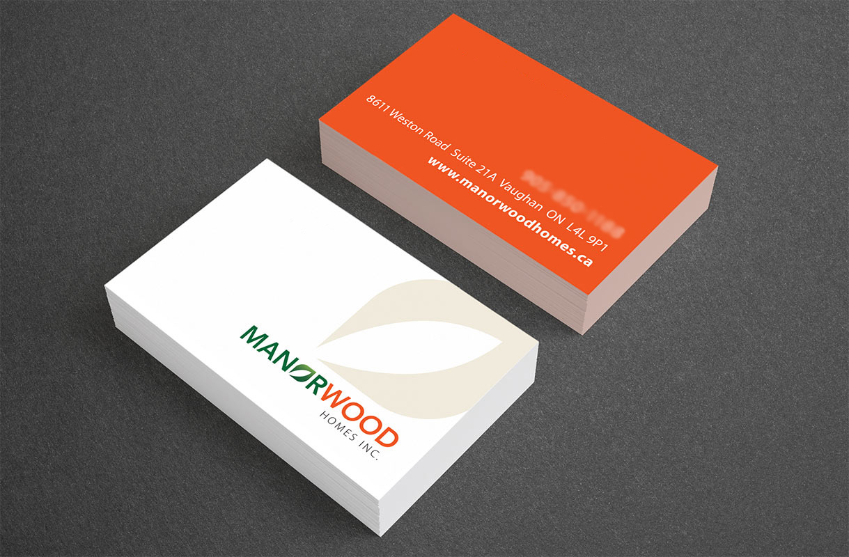 Manorwood Homes Business Card