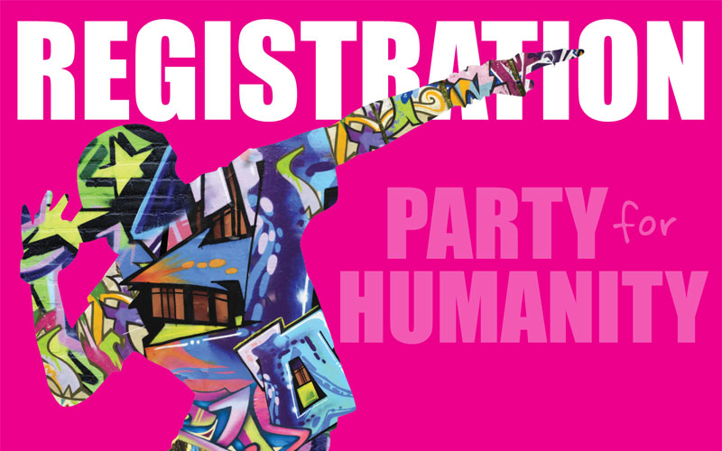 BILD Party for Humanity Registration Flyer